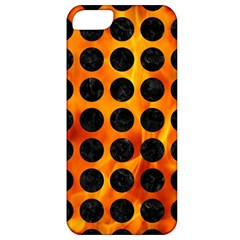 Circles1 Black Marble & Fire (r) Apple Iphone 5 Classic Hardshell Case by trendistuff
