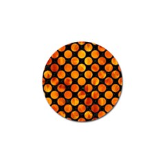 Circles2 Black Marble & Fire Golf Ball Marker (10 Pack) by trendistuff
