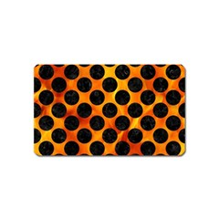 Circles2 Black Marble & Fire (r) Magnet (name Card) by trendistuff