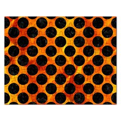 Circles2 Black Marble & Fire (r) Rectangular Jigsaw Puzzl by trendistuff