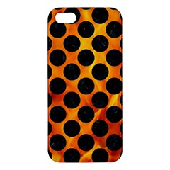 Circles2 Black Marble & Fire (r) Iphone 5s/ Se Premium Hardshell Case by trendistuff
