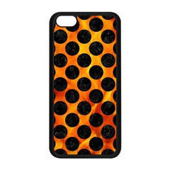 Circles2 Black Marble & Fire (r) Apple Iphone 5c Seamless Case (black) by trendistuff