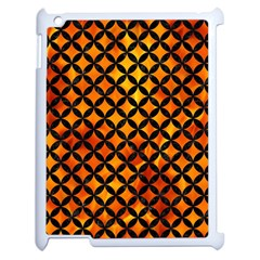 Circles3 Black Marble & Fire (r) Apple Ipad 2 Case (white) by trendistuff