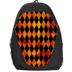 Diamond1 Black Marble & Fire Backpack Bag by trendistuff