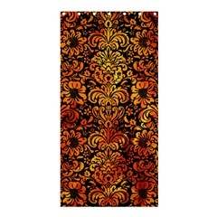 Damask2 Black Marble & Fire Shower Curtain 36  X 72  (stall)  by trendistuff