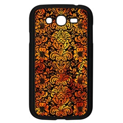Damask2 Black Marble & Fire Samsung Galaxy Grand Duos I9082 Case (black) by trendistuff