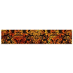 Damask2 Black Marble & Fire Flano Scarf (small) by trendistuff