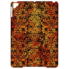 Damask2 Black Marble & Fire Apple Ipad Pro 9 7   Hardshell Case