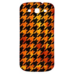 Houndstooth1 Black Marble & Fire Samsung Galaxy S3 S Iii Classic Hardshell Back Case by trendistuff