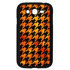 Houndstooth1 Black Marble & Fire Samsung Galaxy Grand Duos I9082 Case (black) by trendistuff