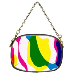 Anatomicalrainbow Wave Chevron Pink Blue Yellow Green Chain Purses (two Sides)  by Mariart