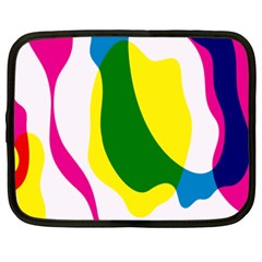 Anatomicalrainbow Wave Chevron Pink Blue Yellow Green Netbook Case (xxl)  by Mariart