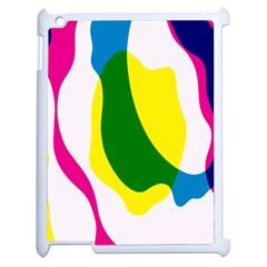 Anatomicalrainbow Wave Chevron Pink Blue Yellow Green Apple Ipad 2 Case (white) by Mariart