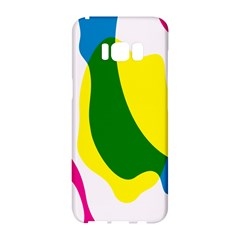 Anatomicalrainbow Wave Chevron Pink Blue Yellow Green Samsung Galaxy S8 Hardshell Case  by Mariart