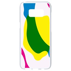 Anatomicalrainbow Wave Chevron Pink Blue Yellow Green Samsung Galaxy S8 White Seamless Case