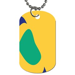 Yellow Green Blue Dog Tag (two Sides) by Mariart