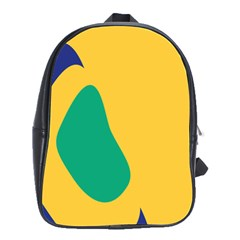 Yellow Green Blue School Bag (large)