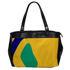 Yellow Green Blue Office Handbags by Mariart