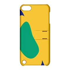 Yellow Green Blue Apple Ipod Touch 5 Hardshell Case With Stand by Mariart