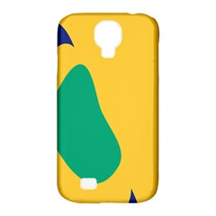 Yellow Green Blue Samsung Galaxy S4 Classic Hardshell Case (pc+silicone) by Mariart