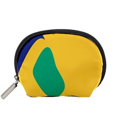Yellow Green Blue Accessory Pouches (small)