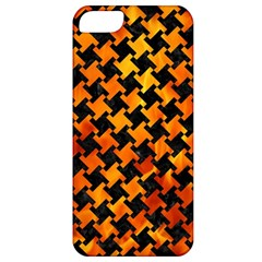 Houndstooth2 Black Marble & Fire Apple Iphone 5 Classic Hardshell Case by trendistuff