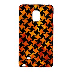 Houndstooth2 Black Marble & Fire Galaxy Note Edge by trendistuff