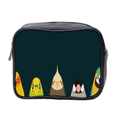 Animals Lovebird Walnut Peacock Parrots Birds Mini Toiletries Bag 2 Side by Mariart