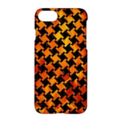 Houndstooth2 Black Marble & Fire Apple Iphone 7 Hardshell Case by trendistuff