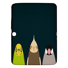 Animals Lovebird Walnut Peacock Parrots Birds Samsung Galaxy Tab 3 (10 1 ) P5200 Hardshell Case  by Mariart