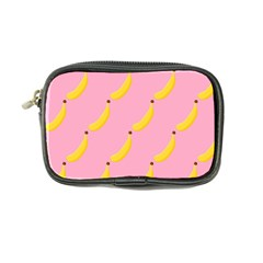 Banana Fruit Yellow Pink Coin Purse by Mariart