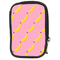 Banana Fruit Yellow Pink Compact Camera Cases by Mariart