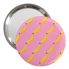 Banana Fruit Yellow Pink 3  Handbag Mirrors