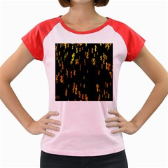 Animated Falling Spinning Shining 3d Golden Dollar Signs Against Transparent Women s Cap Sleeve T Shirt by Mariart