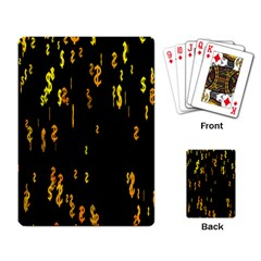 Animated Falling Spinning Shining 3d Golden Dollar Signs Against Transparent Playing Card by Mariart