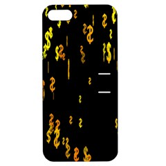 Animated Falling Spinning Shining 3d Golden Dollar Signs Against Transparent Apple Iphone 5 Hardshell Case With Stand by Mariart