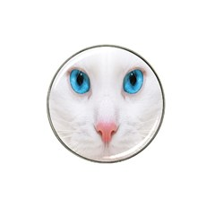 Beautiful White Face Cat Animals Blue Eye Hat Clip Ball Marker (10 Pack) by Mariart