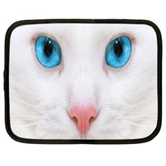 Beautiful White Face Cat Animals Blue Eye Netbook Case (large) by Mariart