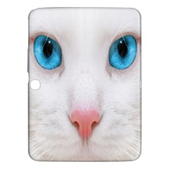 Beautiful White Face Cat Animals Blue Eye Samsung Galaxy Tab 3 (10 1 ) P5200 Hardshell Case  by Mariart
