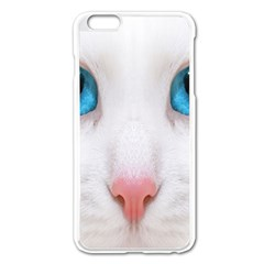 Beautiful White Face Cat Animals Blue Eye Apple Iphone 6 Plus/6s Plus Enamel White Case by Mariart