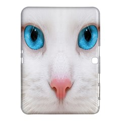 Beautiful White Face Cat Animals Blue Eye Samsung Galaxy Tab 4 (10 1 ) Hardshell Case  by Mariart