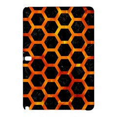 Hexagon2 Black Marble & Fire Samsung Galaxy Tab Pro 12 2 Hardshell Case by trendistuff