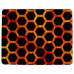 Hexagon2 Black Marble & Fire Jigsaw Puzzle Photo Stand (rectangular) by trendistuff