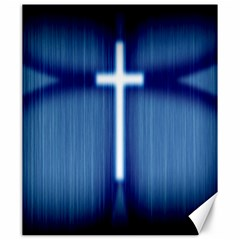 Blue Cross Christian Canvas 20  X 24   by Mariart
