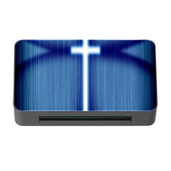 Blue Cross Christian Memory Card Reader With Cf by Mariart