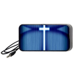 Blue Cross Christian Portable Speaker (black) by Mariart