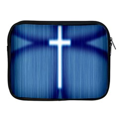 Blue Cross Christian Apple Ipad 2/3/4 Zipper Cases by Mariart