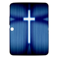 Blue Cross Christian Samsung Galaxy Tab 3 (10 1 ) P5200 Hardshell Case  by Mariart