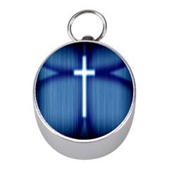 Blue Cross Christian Mini Silver Compasses by Mariart