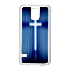 Blue Cross Christian Samsung Galaxy S5 Case (white) by Mariart